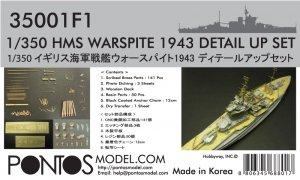 Pontos 35001F1 HMS Warspite 1943 Detail Up Set (1:350)