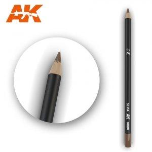 AK Interactive AK 10010 Watercolor Pencil SEPIA
