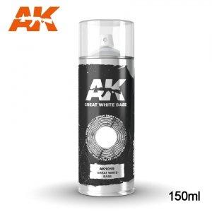 AK Interactive AK 1019 GREAT WHITE BASE SPRAY 150ml