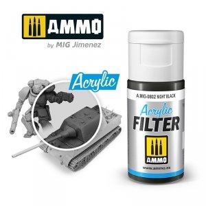 Ammo of Mig 0802 ACRYLIC FILTER Night Black 15 ml