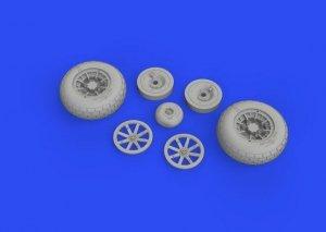 Eduard 632160 P-40E wheels TRUMPETER 1/32
