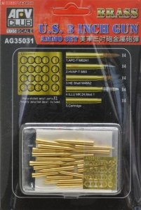 AFV Club AG35031 U.S. 3 Gun Brass Ammo Set 1:35