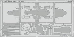 Eduard 32470 F-100C air brake TRUMPETER 1/32