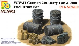 Classy Hobby MC16002 WWII German 20L Jerry Can & 200L Fuel Drum Set 1/16