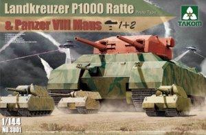 Takom 3001 Landkreuzer P1000 Ratte 1/144
