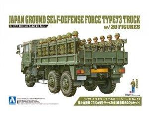 Aoshima 01209 JGSDF Type 73 Truck w/Figures 20pcs 1/72
