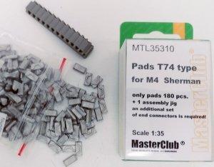 MasterClub MTL-35310 Pads T74 type for M4 Sherman 1:35