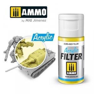 Ammo of Mig 0825 ACRYLIC FILTER Yellow 15 ml