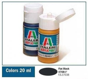 Italeri 4768 FLAT BLACK 20ml