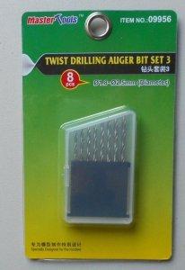 Trumpeter 09956 Twist Drilling Auger Bit Set 3 (1.8-2.5mm Diameter)