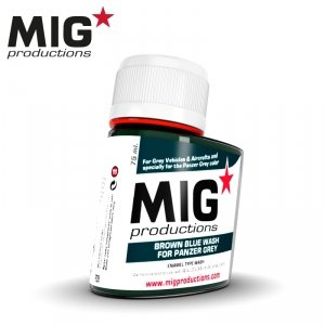 Mig Productions P285 BROWN BLUE WASH FOR PANZER GREY (75ML)