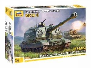 Zvezda 5045 2S19 MSTA Russian Self Propelled Howitzer 1/72