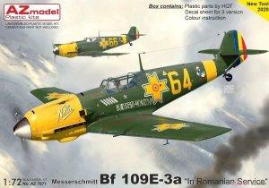 AZ Model AZ7671 Messerschmitt Bf.109E-3a Emil in Romanian service 1/72