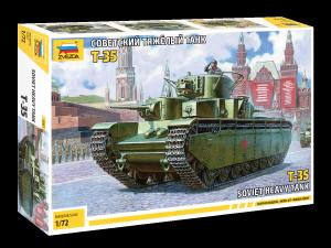 Zvezda 5061 Soviet Heavy Tank T-35 1/72