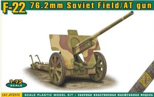 ACE 72572 F-22 76.2mm Soviet Field/AT Gun 1/72