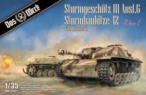 Das Werk DW35021 2 in 1 Sturmgeschütz III Ausf.G Sturmhaubitze 42 with Zimmerit 1/35