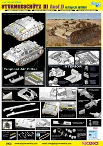 Dragon 6905 STURMGESCHUTZ III Ausf.D with tropical air filter 1/35