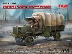 "ICM 35653 Standard B ""Liberty"" with WWI US Drivers 1/35"