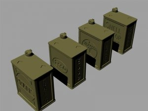 """Panzer Art RE35-147 2 Gal British """"POW"""" canisters (commercial set) 1/35"""