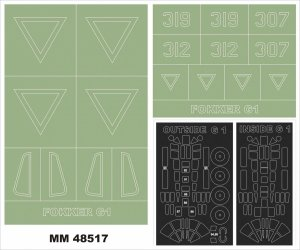 Montex MM48517 FOKKER G-1 MIKROMIR 1/48