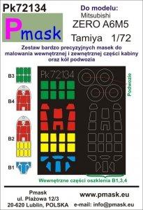 P-Mask PK72134 Mitsubishi A6M5 Zero (Tamiya) 1/72