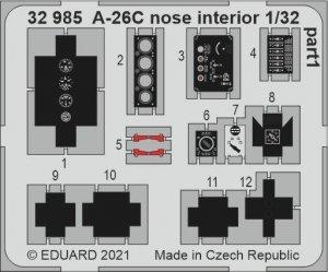 Eduard 32985 A-26C nose interior HOBBY BOSS 1/32