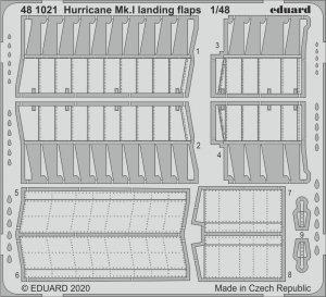 Eduard 481021 Hurricane Mk.I landing flaps for AIRFIX 1/48