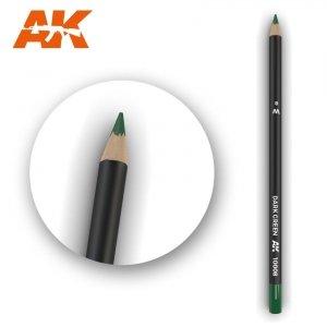 AK Interactive AK 10008 Watercolor Pencil DARK GREEN