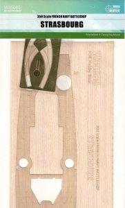 Wood Hunter W35085 French Battleship Strasbourg (Hobby Boss 86507) 1/350