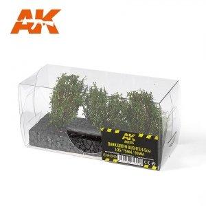 AK Interactive AK 8215 DARK GREEN BUSHES 4-6CM 1/35