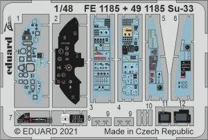 Eduard FE1185 Su-33 MINIBASE 1/48