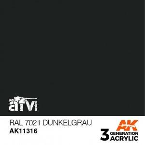 AK-Interactive AK 11316 RAL 7021 Dunkelgrau 17ml