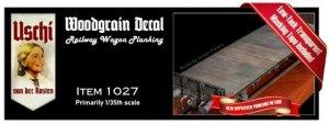 Uschi 1027 Wood Grain Decal Railway Wagon Planking