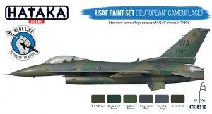 """Hataka HTK-BS10 USAF Paint Set (""""European"""" Camouflage) (6x17ml)"""