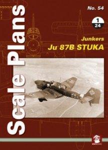 Stratus 58112 Scale Plans No. 54 Junkers Ju 87 B Stuka in 1/24