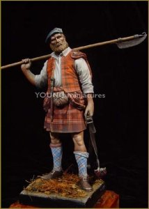 Young Miniatures YH9004 Highland Clansman 1746 90mm