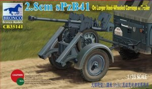 Bronco CB35141 2.8cm sPzB41 on Larger Steel-Wheeled Cariage (1:35)