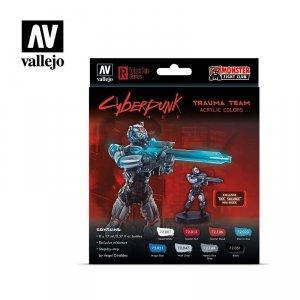 Vallejo 72310 Cyberpunk RED Trauma Team Paint Set 8x17ml