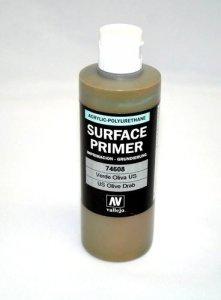 Vallejo 74608 Surface Primer UK Olive Drab 200ml.