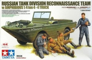 TAMIYA 89771 Russian Tank Div. Recon Team w /Amphibious (1:35)