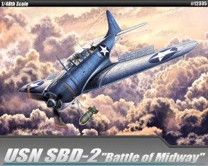 Academy 12335 SBD-2 Dauntless Dive Bomber 'Battle of Midway' 1/48
