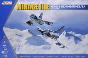 Kinetic K48050 Mirage IIIE /O/R/RD/EE/EA 1/48
