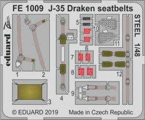Eduard FE1009 J-35 Draken seatbelts STEEL HASEGAWA 1/48