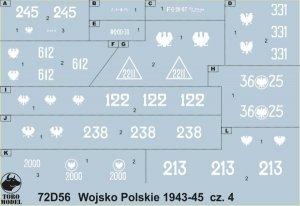 ToRo Model 72D56 Wojsko Polskie 1943-1945 cz.4 1/72