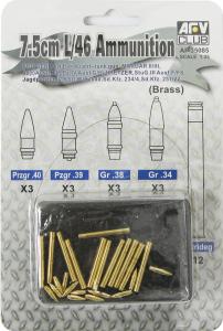 AFV Club 35085 7.5cm L/46 Ammunition 1/35