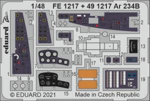 Eduard FE1217 Ar 234B HASEGAWA/HOBBY 2000 1/48