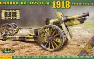 ACE 72544 US 155mm howitzer model of 1918 (wooden wheels) (1:72)