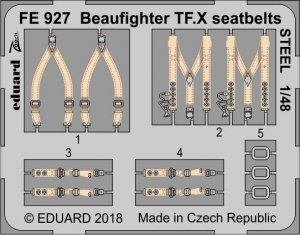 Eduard FE927 Beaufighter TF. X seatbelts STEEL REVELL 1/48