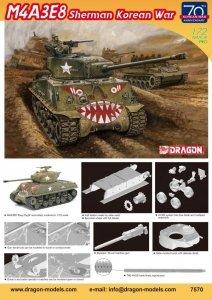 Dragon 7570 M4A3E8 Sherman Korean War 1/72