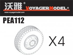 Voyager Model PEA112 Road Wheels for Sd.Kfz.234 Pattern 3 (For DRAGON) 1/35